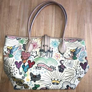 Disney Dooney and Bourke Parks Sketch Tote